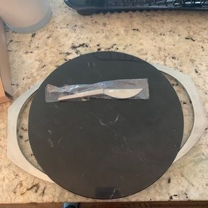 Nambe Cabo Black Marble cheese board